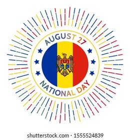 Moldova national day badge. Declaration of Independence from the Soviet Union in 1991. Celebrated on August 27.