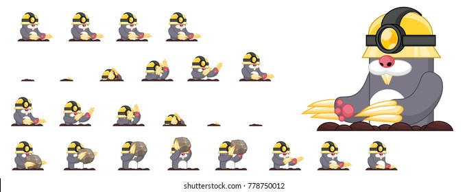 Mole game character for creating video games