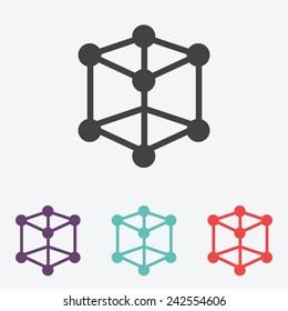 molecular compound vector icon