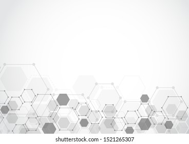 Molecular structure abstract tech background. Medical design. Vector illustration