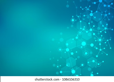Molecular structure background. Abstract background with molecule DNA