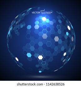 Molecular structure formed the three-dimensional earth, the implication of the sense of science and technology.