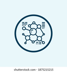 Molecular structure icon. Outline molecular structure vector icon for web design isolated on white background