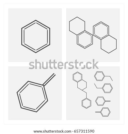 Molecular Structure Logo Stock Vector Royalty Free 657311590