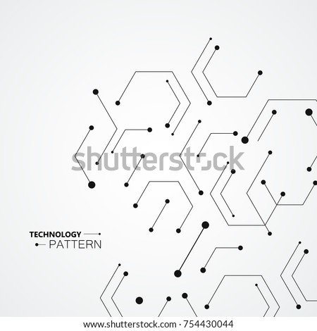 Molecular Structure Pattern Background Vector Technology Stock