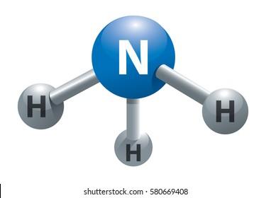 Molecule of ammonia