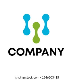 molecule connection technology logo vector sign template