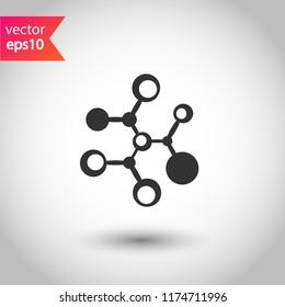 Molecule icon. DNA vector icon. Laboratory molecule sign. Nano DNA line icon. EPS 10 flat symbol