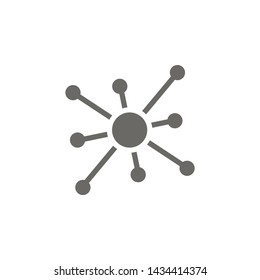 Molecule icon. Element of blood donation icon. Premium quality graphic design icon. Signs and symbols collection icon for websites, web design, mobile app