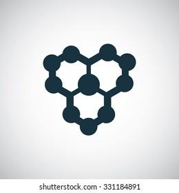 molecule icon, on white background