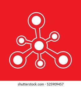 molecule Icon Vector Illustration