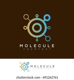 molecule initial Letter O Logo design