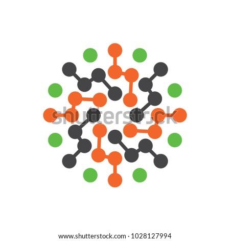 Molecule Logo Circle Icon Galaxy Abstract Stock Vector Royalty Free