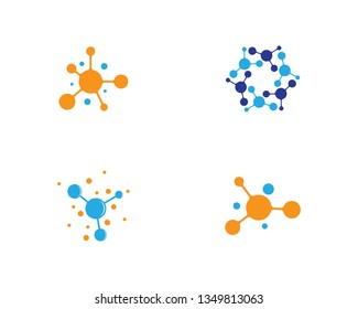 Molecule logo template vector icon