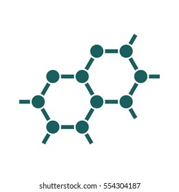 molecule science education icon on white background