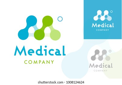 Molecule Shaping M letter , Logo / Icon