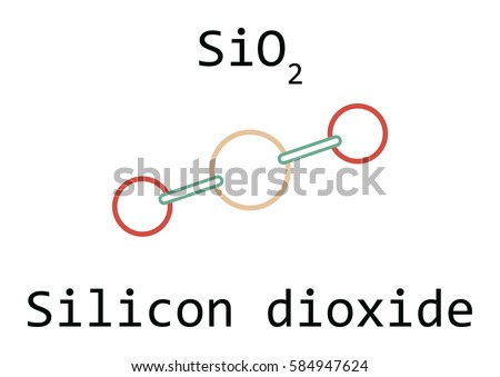 Molecule Si O 2 Silicon Dioxide Isolated On Stock Vector Royalty
