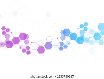 Molecule structure abstract tech background. Medical design. Vector illustration