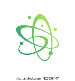 Molecules and atoms symbols for science concept design, such as emblem or idea of logo