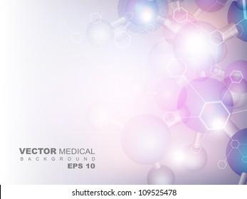 Molecules background. EPS 10.