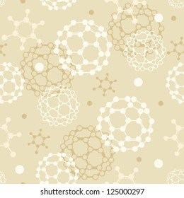 Molecules seamless pattern background