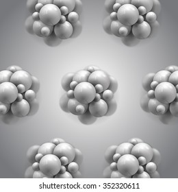 molecules spheres abstract background . molecular structure