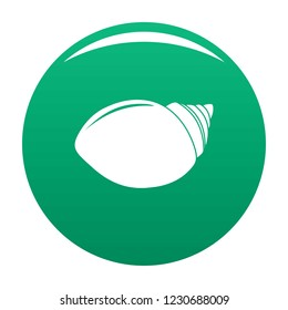 Mollusks shell icon. Simple illustration of mollusks shell vector icon for any design green