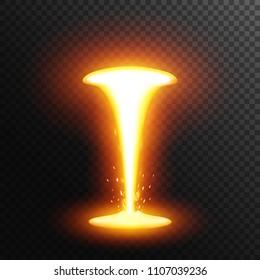 Molten metal. Lava or magma.