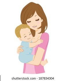 Mother And Baby Cartoon Images, Stock Photos & Vectors ...