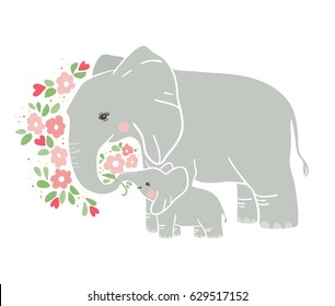 Baby Elephant Mother Images Stock Photos Vectors Shutterstock