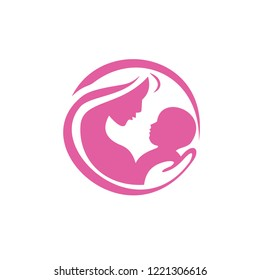Mom And Baby Vector Graphic Template Download Modern