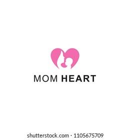 mom heart love logo