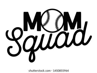 Mom squad script letterig vector templete