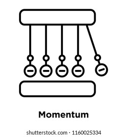 Momentum icon vector isolated on white background, Momentum transparent sign , sign and symbols in thin linear outline style
