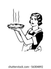 Mom's Apple Pie - Retro Clip Art