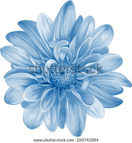 Mona Lisa Flower Blue Flower Spring Stock Vektorgrafik Lizenzfrei