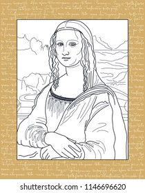 MONA LISA OUTLINE