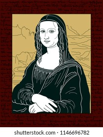 MONA LISA VECTOR