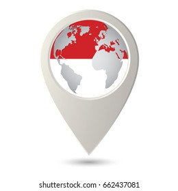 Monaco Pin On Map Images Stock Photos Vectors Shutterstock