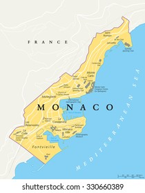 Monaco On Map Of France.Monaco Map Images Stock Photos Vectors Shutterstock