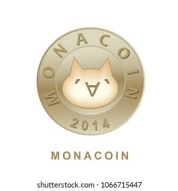 Monacoin Cryptocurrency Coin Sign