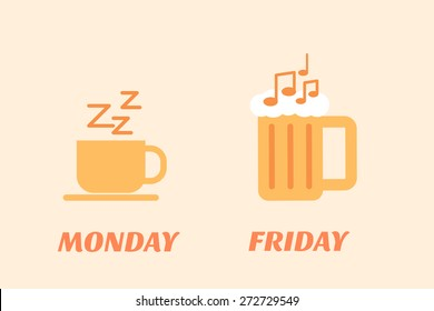 Monday coffee Friday beer