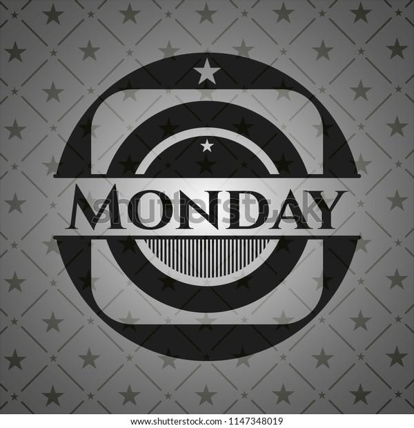 Monday dark badge