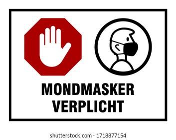 Mondmasker Verplicht (