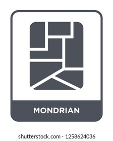 mondrian icon vector on white background, mondrian trendy filled icons from Museum collection, mondrian simple element illustration