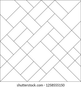 Mondrian pattern vector. Design diagonal square line tile black on white background. Design print for illustrations, wallpaper, textile, background, banner. Set