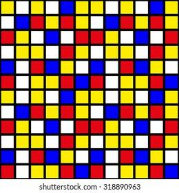 Mondrian squares pattern