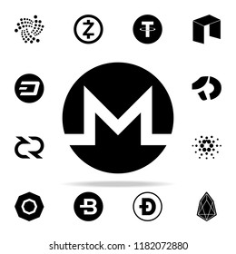monero icon. Crepto currency icons universal set for web and mobile on white background