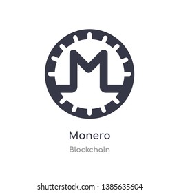 monero icon. isolated monero icon vector illustration from blockchain collection. editable sing symbol can be use for web site and mobile app