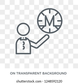 Monero icon. Trendy flat vector Monero icon on transparent background from Cryptocurrency economy and finance collection. High quality filled Monero symbol use for web and mobile